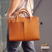 100% Hand Stitched Vegetable Tanned Full Grain Italian Brown Leather Messenger Shoulder Bag Handbag D018