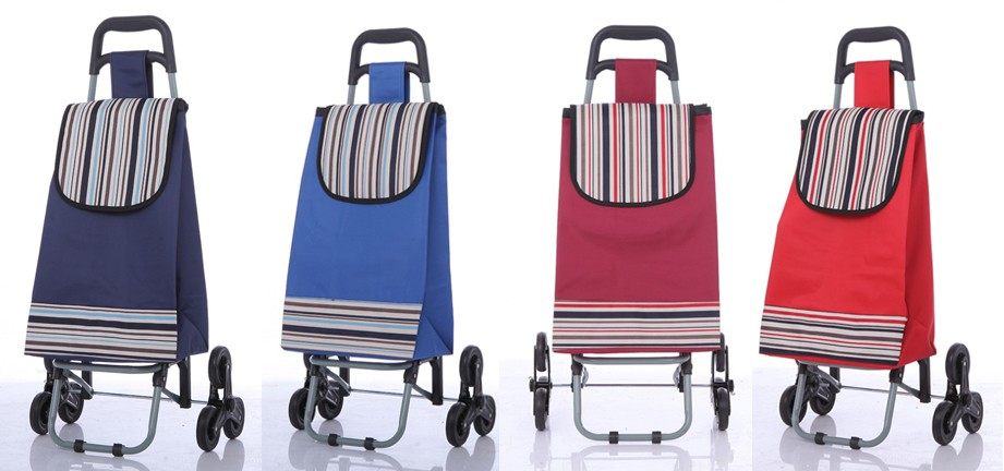 Folding Luggage Cart 3 Wheels Climb Stair Shopping Trolley ...