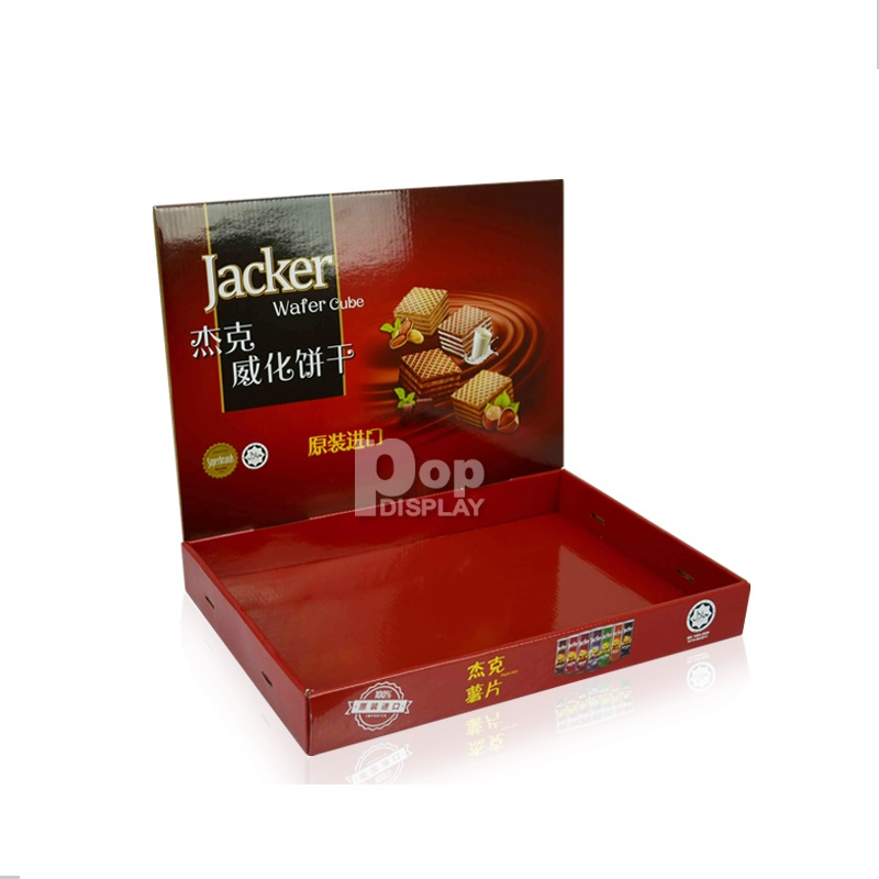 Advertising brochure cardboard counter display boxes