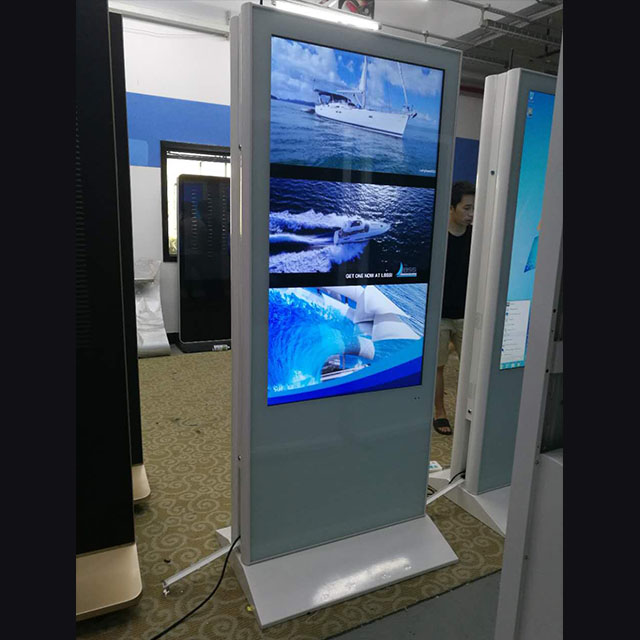 55 inch free standing double sided digital signage LCD advertising player for shopping mall