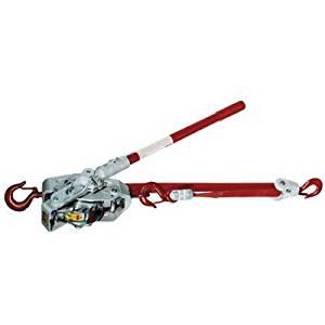 Web Ratchet Hoist-Winches - 1-1/2t web strap winch-hoist w/latch hook & hot