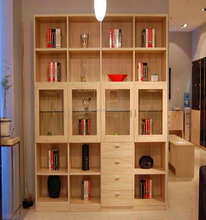 Fancy Design Modern Custom Made Wood Bookcases