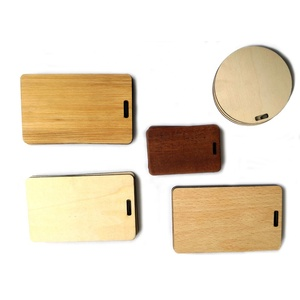 Custom vintage bamboo beech wooden luggage tag/suitcase carry-on ID card