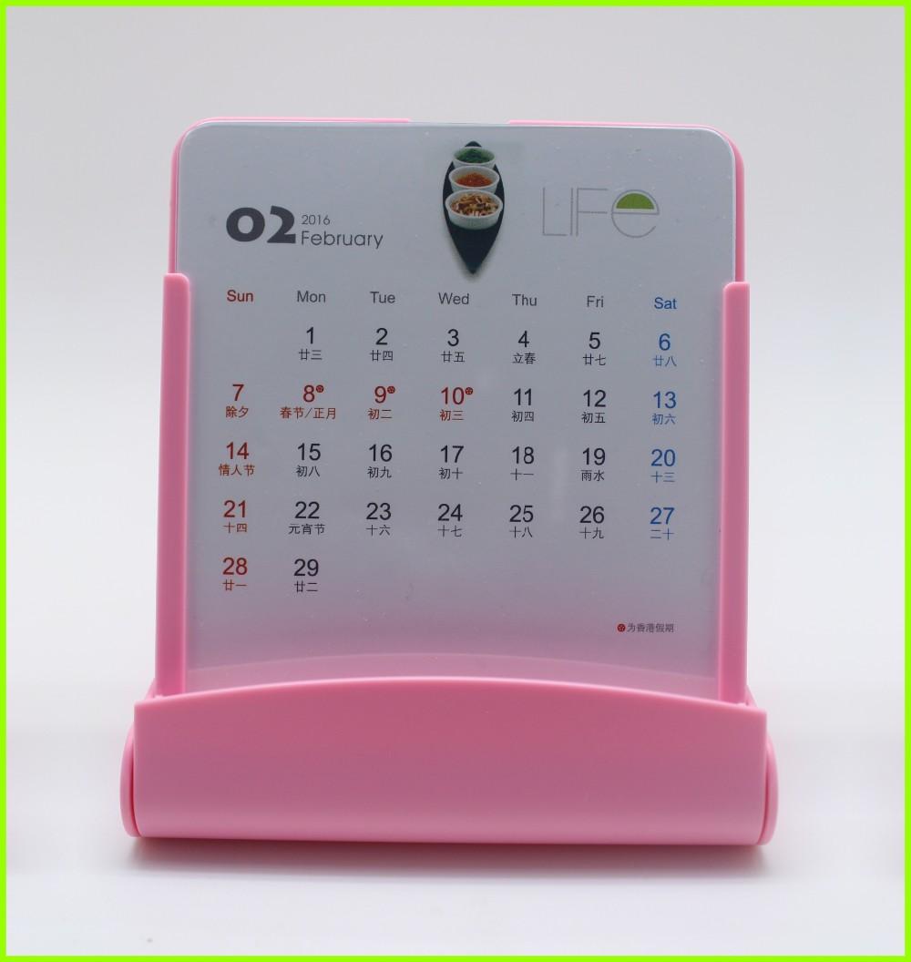 Wholesale Custom Plastic Acrylic Monthly Calendar Phone