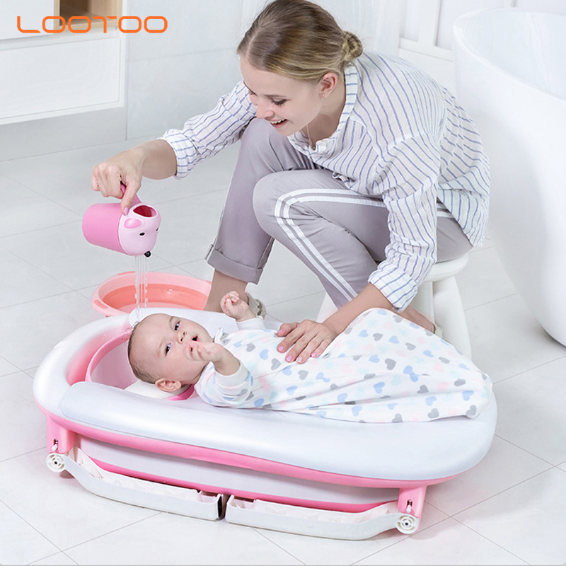 Baby care products folding stand wash bathing baby tub plastic for newborn