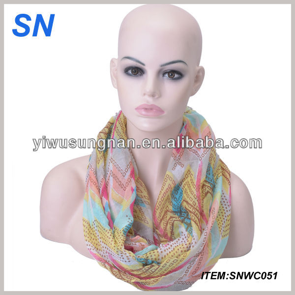 ladies spring fashion bee print infinity scarf