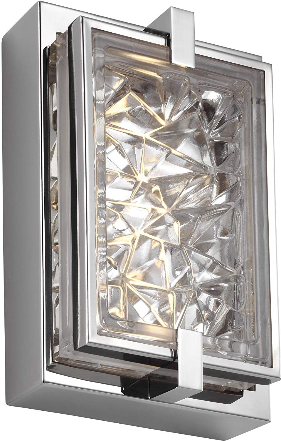 Feiss WB1865PST-L1 Erin Wall Sconce 1-Light LED 5 Watts, Polished Stainless Steel