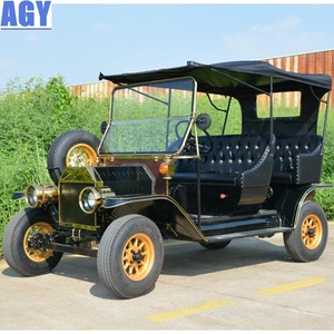 AGY 48v motor electric 5 seat classic shuttle car pedal golf cart