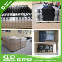 ISO9001 certified ornamental iron work(tubular picket) made in China