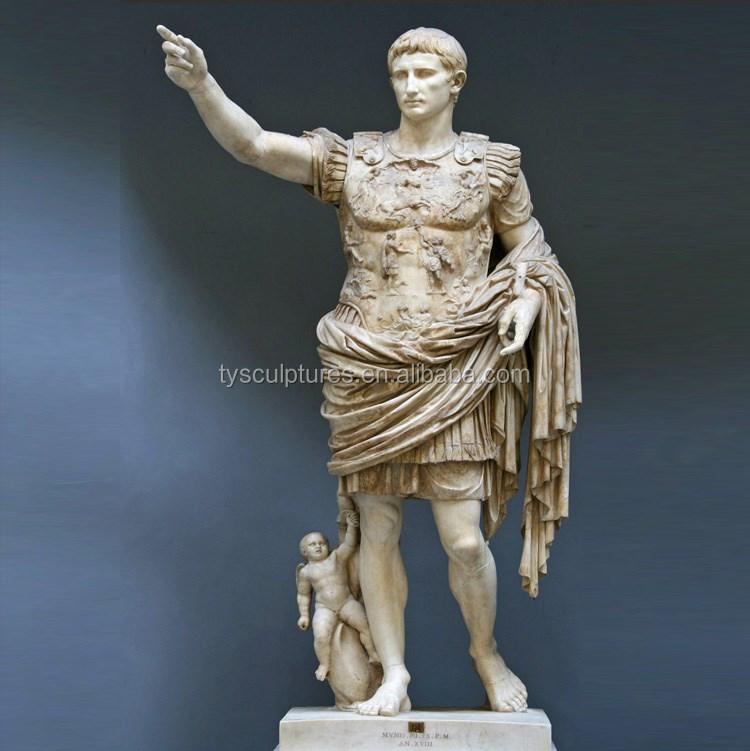 Antique Colored Marble Roman Statues Famous Ancient Figure