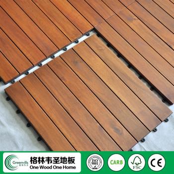 wood deck tiles lowes interlocking acacia over concrete