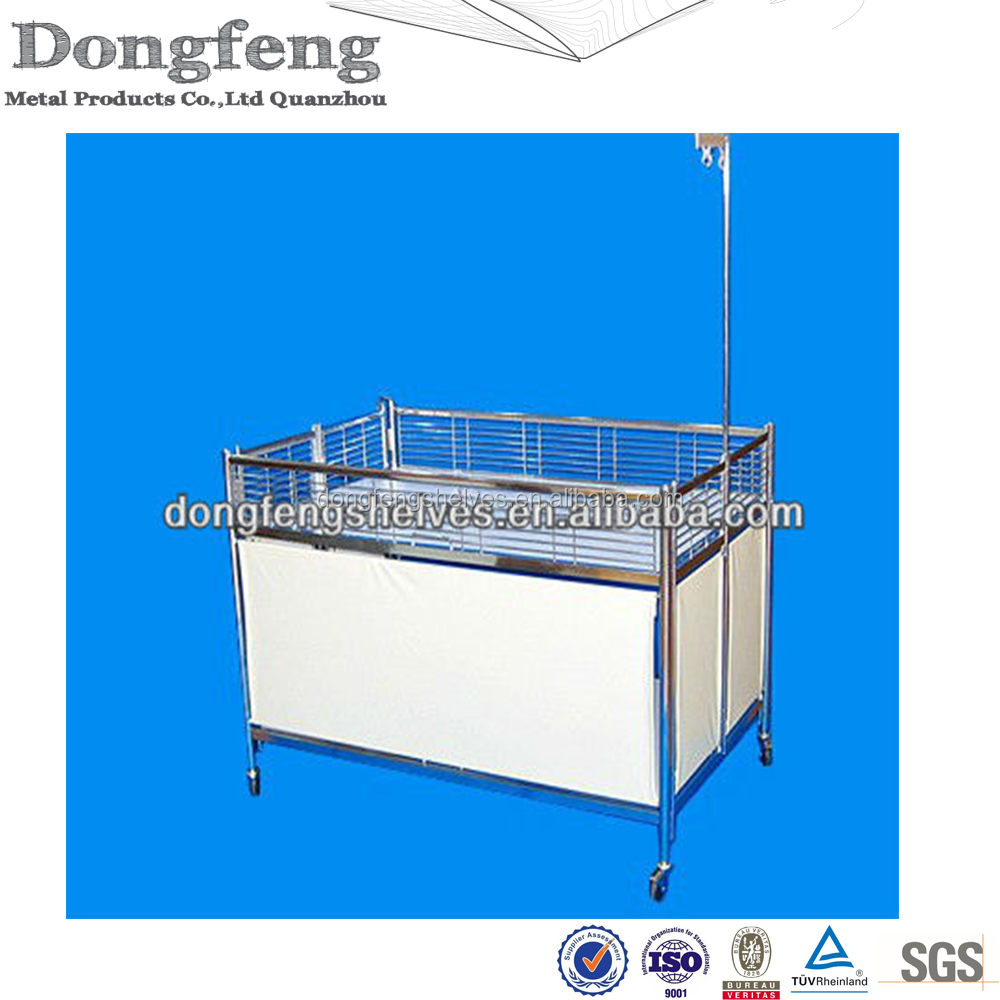 2016 Chrome Foldable Promotional rolling display cart
