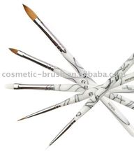 Hot sale top quality professional manufacture cosmetic makeup Kolinsky Acrylic Nail Art Brush set
