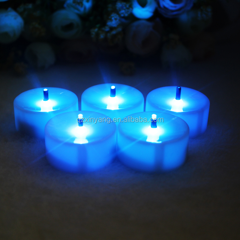 Giáng sinh LED Tea light Candle Flameless LED Teal Sáng Battery Operated LED Nến