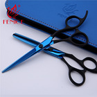 9cr Titanium coated 5.5/6 inch barber hair cutting thinning scissors set
