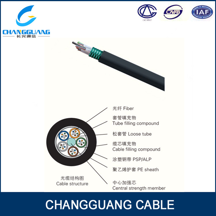 GYTS single metallic strength steel wire 12 core fiber optic cable