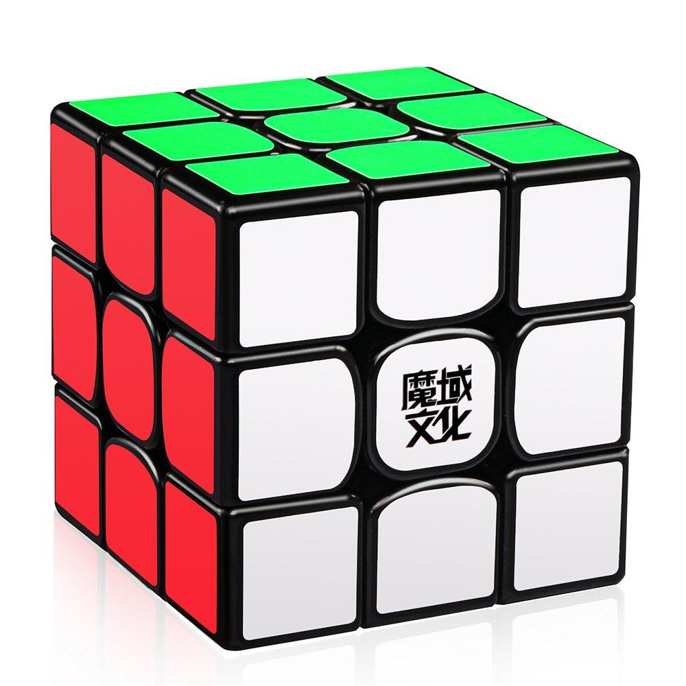 D-FantiX Moyu Weilong GTS V2 3x3 Speed Cube, Moyu Weilong GTS2 3x3x3 Magic Cube Puzzle Black