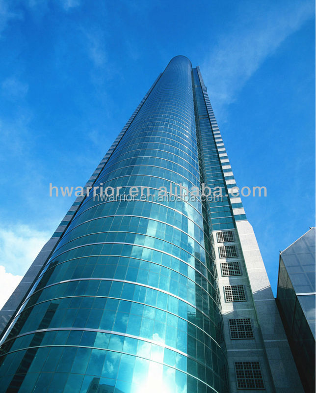 Hidden window aluminum glass curtain wall