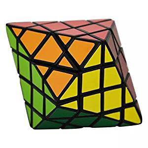 Formula? DianSheng Octagonal Pyramid Dipyramid 4x4 Shape Mode Magic Cube Puzzle - Black