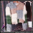 CX-G-A-87 Hot Selling Genuine Knitted Rabbit/Lamb Fur Garment