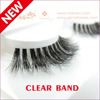 Clear Band 3D Mink Fur Eyelash Mink Strip Eyelashes 3D Mink Lashes Clear Band