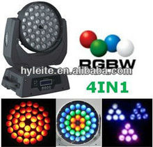 Mejor venta ce rohs aprobación quad zoom 36x10 w rgbw 4in1 led cabeza móvil wash light