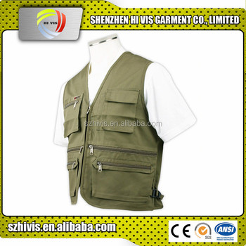 New design durable multi pocket vest wholesale
