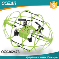 Size small 2.4G rc racing drone frame quadcopter with led light