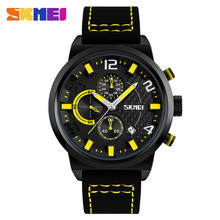 Customized personalized 1/10 second chronograph silicone men wrist watch SKMEI 9149 male clock jam tangan