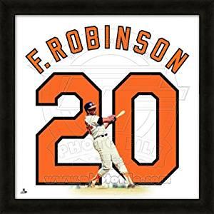 Frank Robinson Baltimore Orioles No. 20 - MLB Framed Uniframe