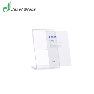 L shaped table acrylic a4 clear menu sign card stand magnetic paper holder for customs paper insert