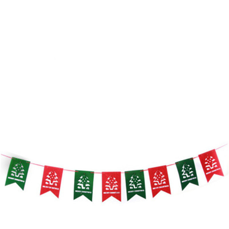 Festival Ornament Indoor Outdoor Home Party Christmas Decoration Hanging Flag