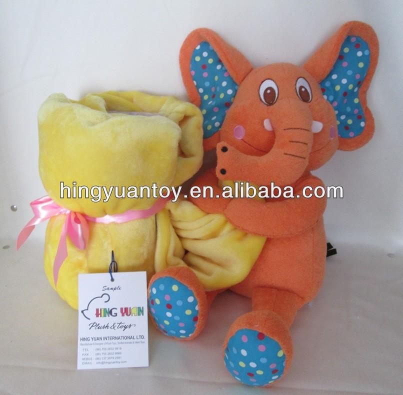 elefante sosteniendo suave velboa manta de beb de alta calidad muy lindo