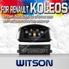 WITSON FOR RENAULT KOLEOS 2014 DOUBLE DIN CAR DVD WITH RAM 8GB FLASH BLUETOOTH STEERING WHEEL SUPPORT
