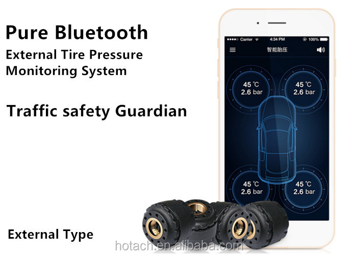Bluetooth External TPMS with 4 Sensor