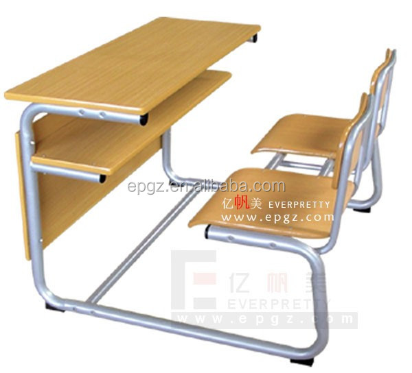 School Furniture Student Double Desk Chairs Classroom Study Table And Chairs