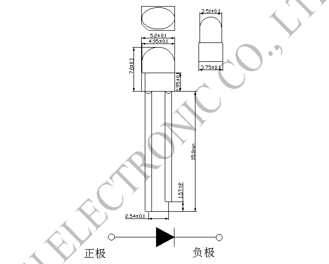 Epistar Chip Emission And Receiver 5mm Led Diodes 850 940nm Free