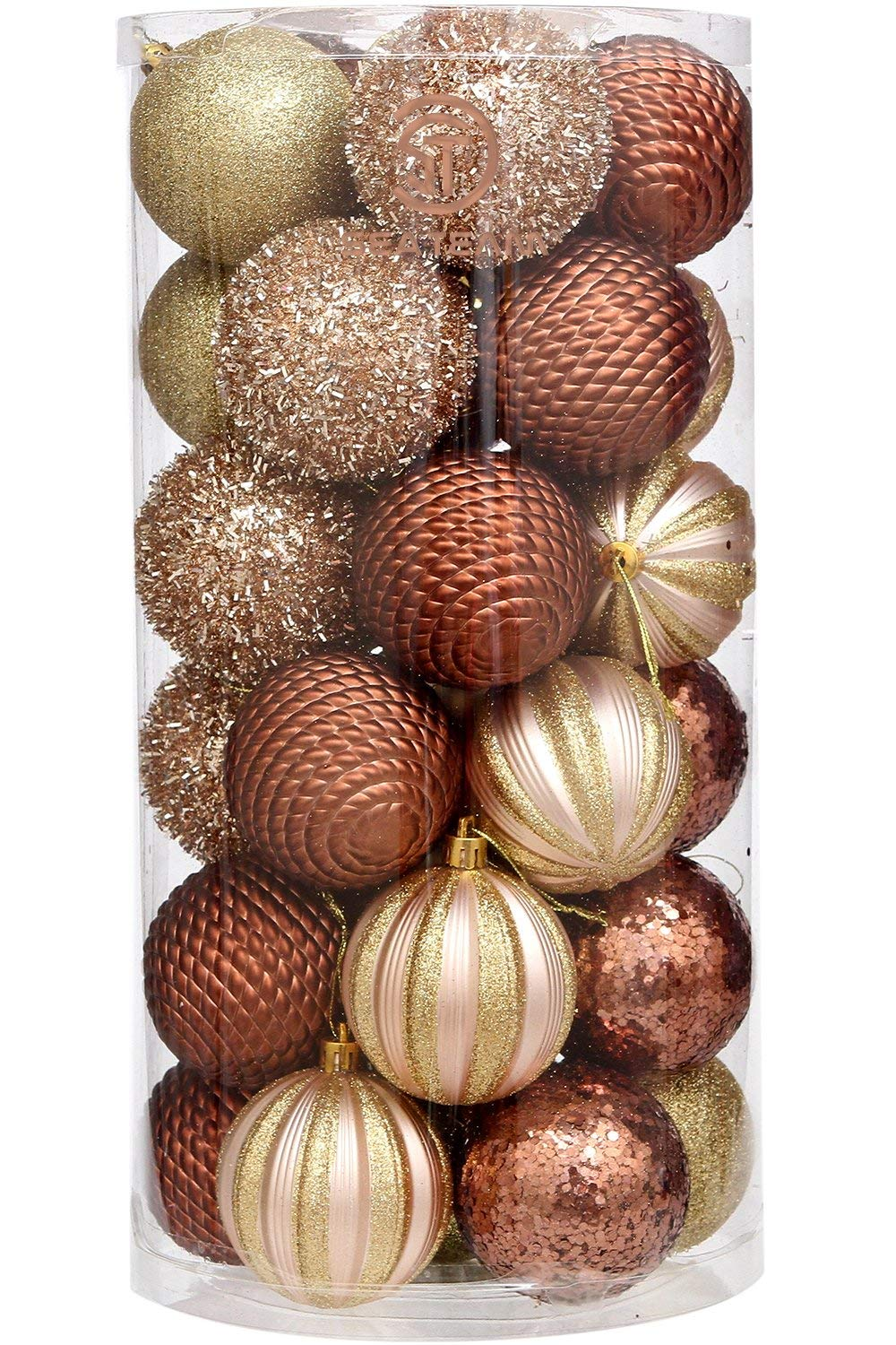 get quotations sea team 30 count 70mm276 delicate glittering embossed finish shatterproof christmas ball - Christmas Ball Ornaments Bulk