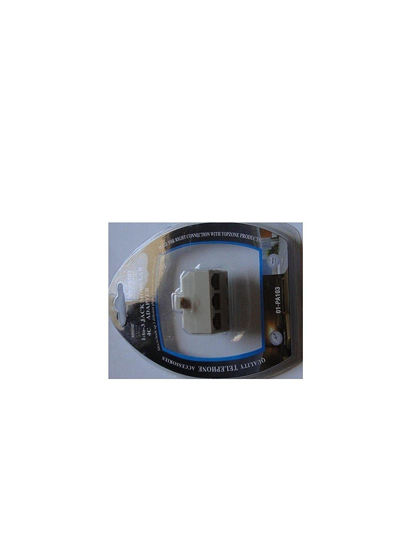 1 pc of 4C 3 Phone Jacks In 1 Telephone Jack Modular Adapter 3-Way Outlet Splitter Plug