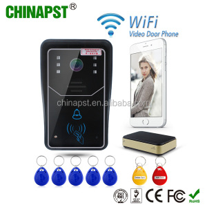 2017 New IOS and android app IR night vision intercom function home smart door PST-WIFI001ID
