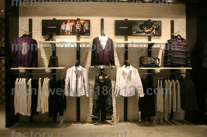 men clothing department store display/ladies shoes garment ...