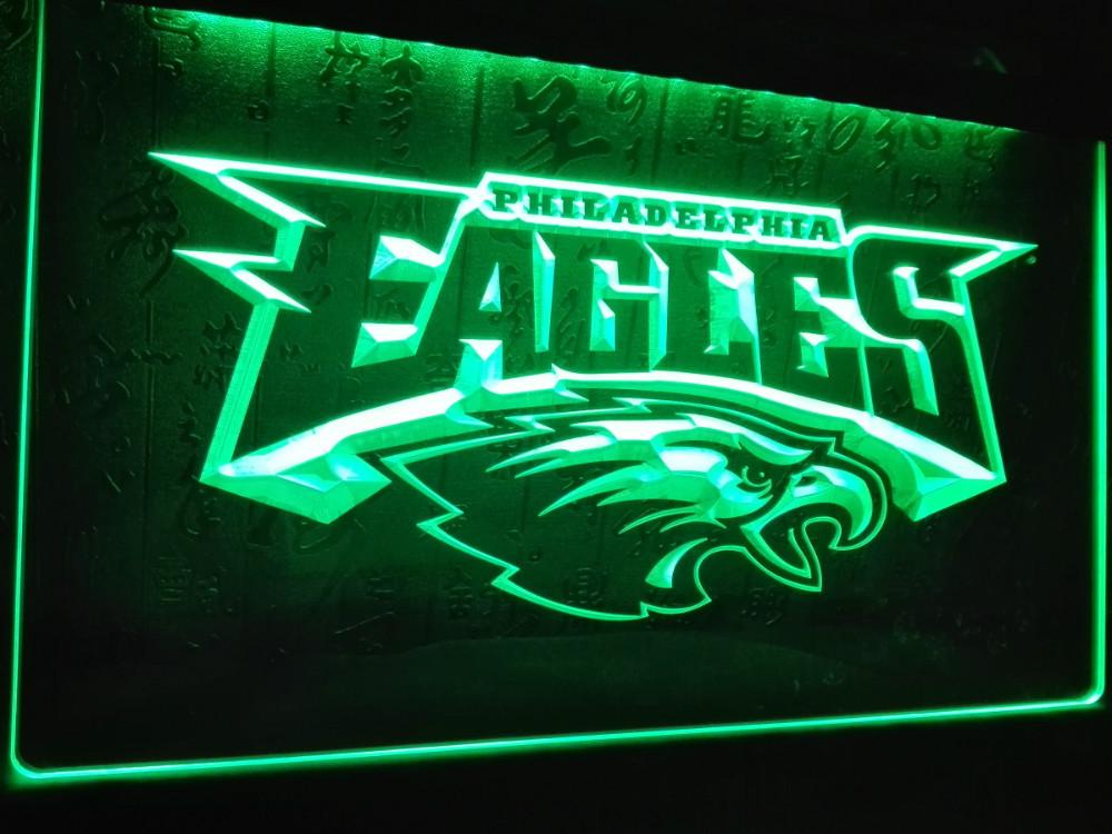 LD054 Philadelphia Eagles Football LED Neon Light Sign