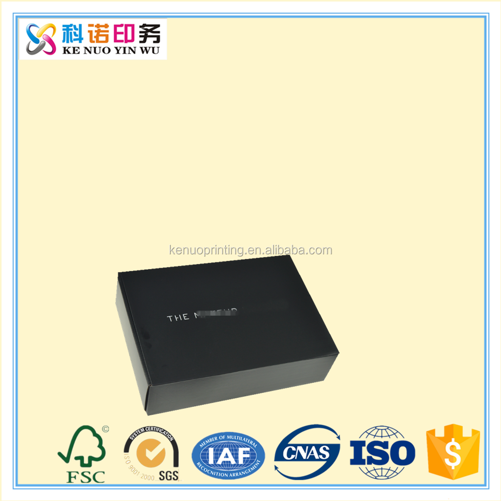 Alibaba gold supplier professional factory design Matte black shoe box die cut template