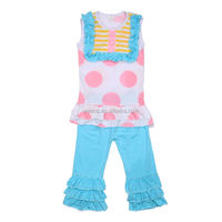 2 pcs baby set autumn kids clothing plaid cotton sleeveless t shirt 2014 cheap newborn baby polka dots clothes set