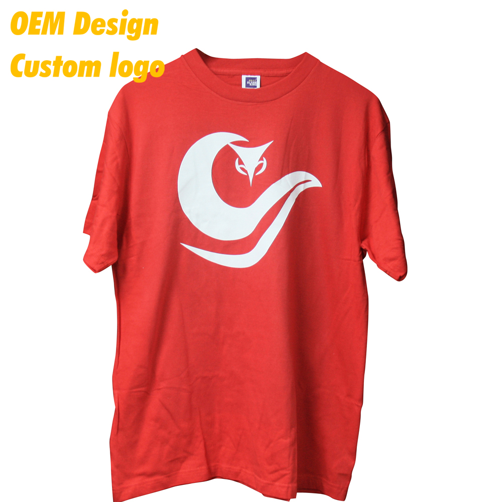 Tailor made Low price 100% cotton Screen Print Small size 180gsm Red Short sleeve Kid Tee for school