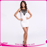 Wholesale Office Ladies White Short Sexy Elegant Dresses
