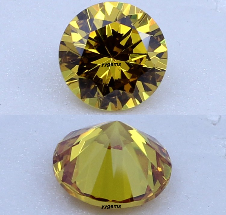 Light Yellow Gemstone Round Cubic Zirconia Yellow Gemstones Names ...