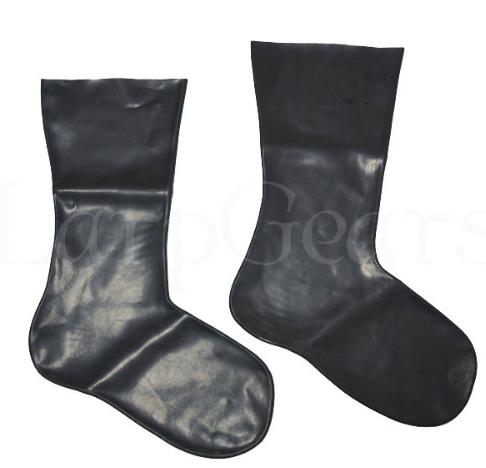 Latex Socks Black Red Translucent Rubber Fetish Gummi