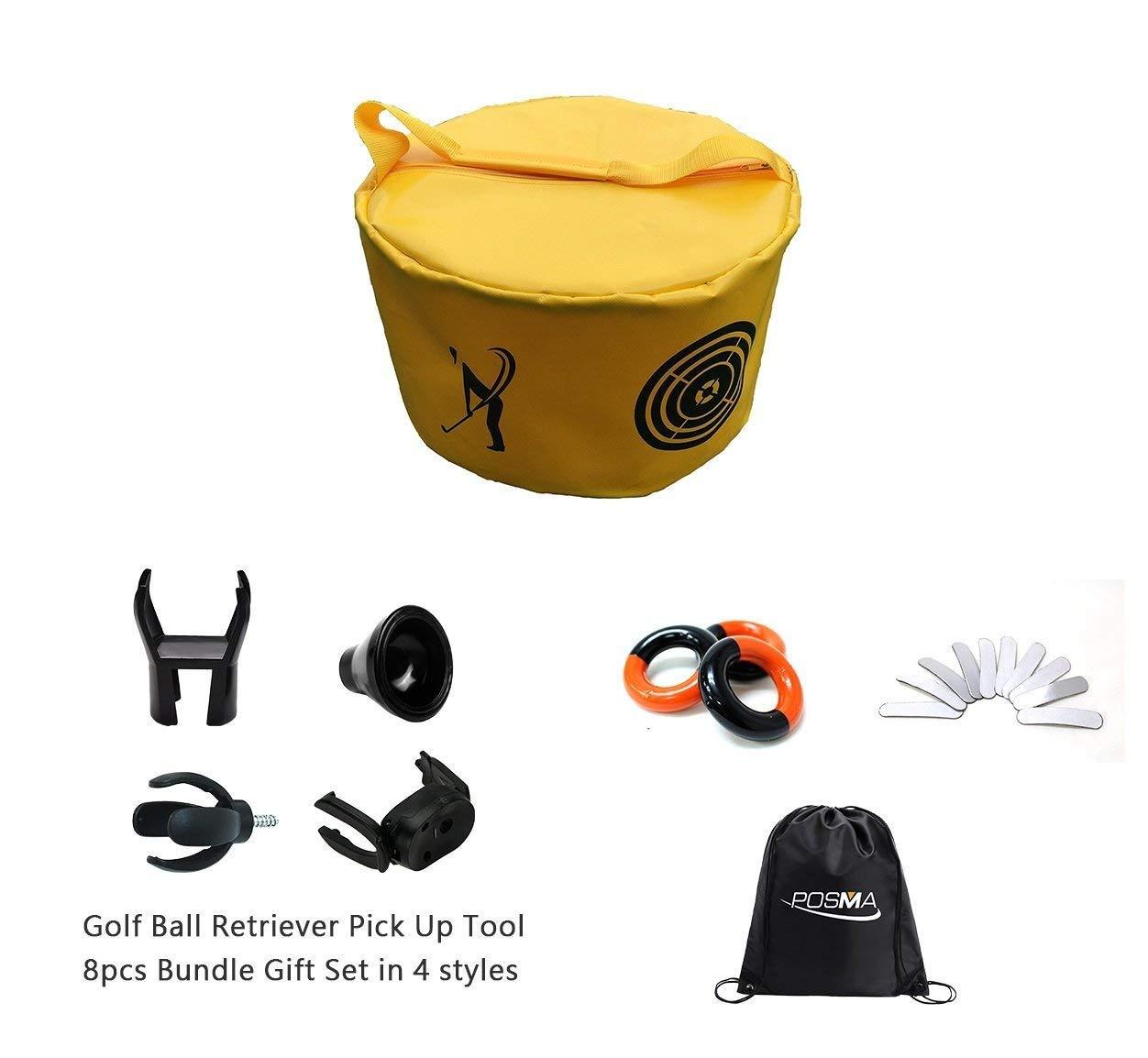 POSMA HB010C Golf Hitting Bag Swing Impcat Power Smach Bag Training Set with Weight Power Swing Ring(3pcs)