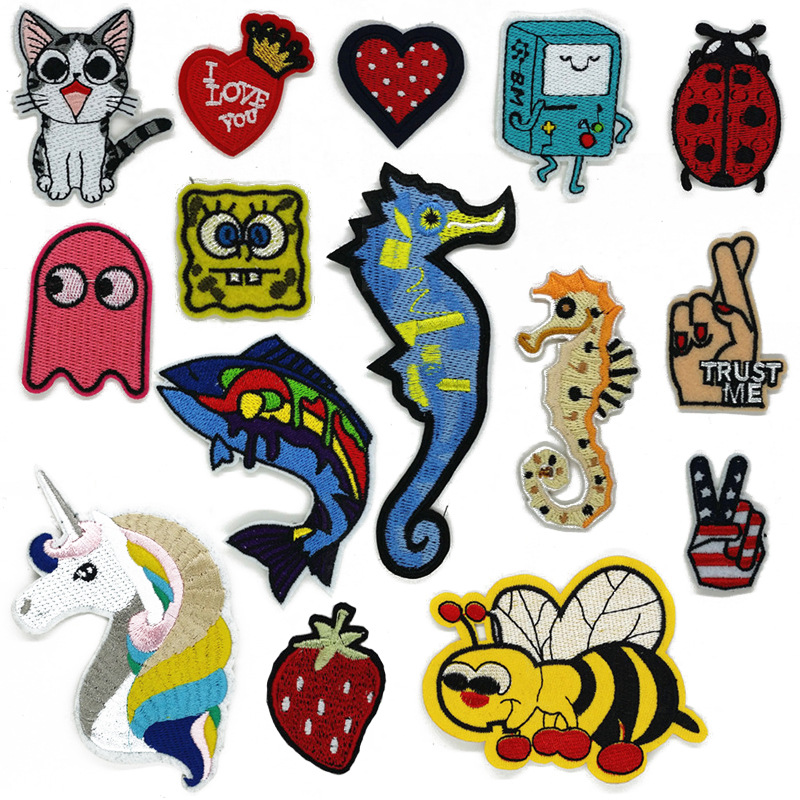 Hippocampus patch baby cloth embroidered patches